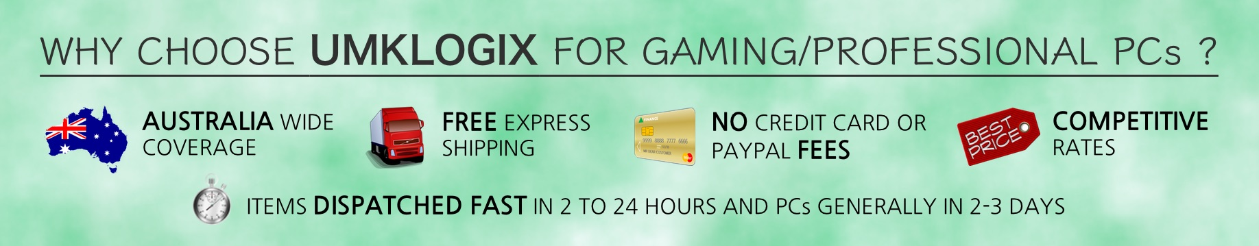 Why shop with UMKLOGIX for Gaming and Professional Custom Computer